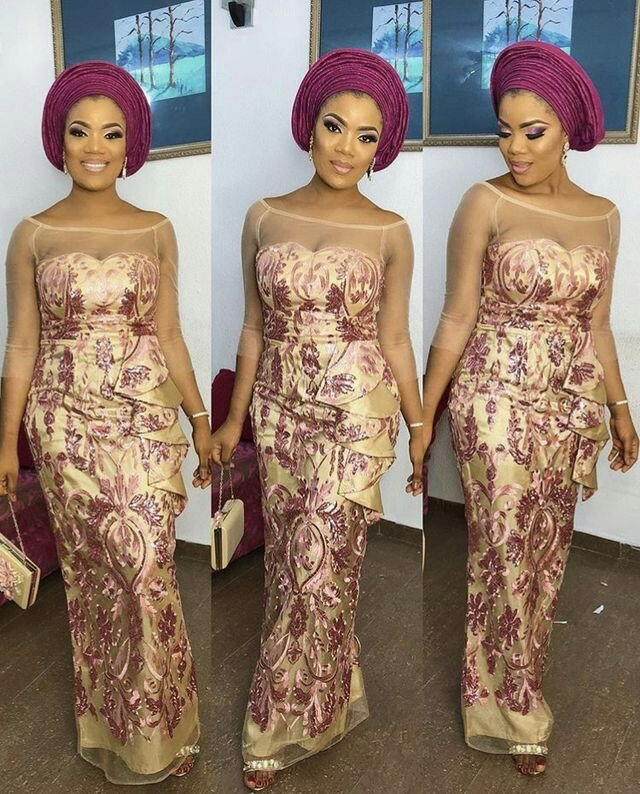 Latest Nigerian lace styles
