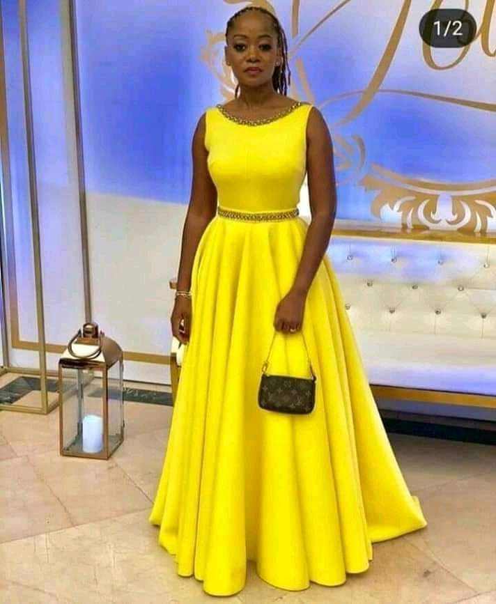 Stunning yellow dress styles