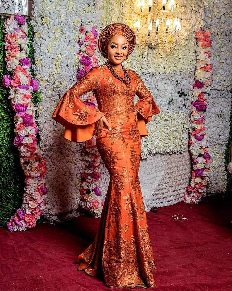 30+ Latest  Nigerian lace styles 13