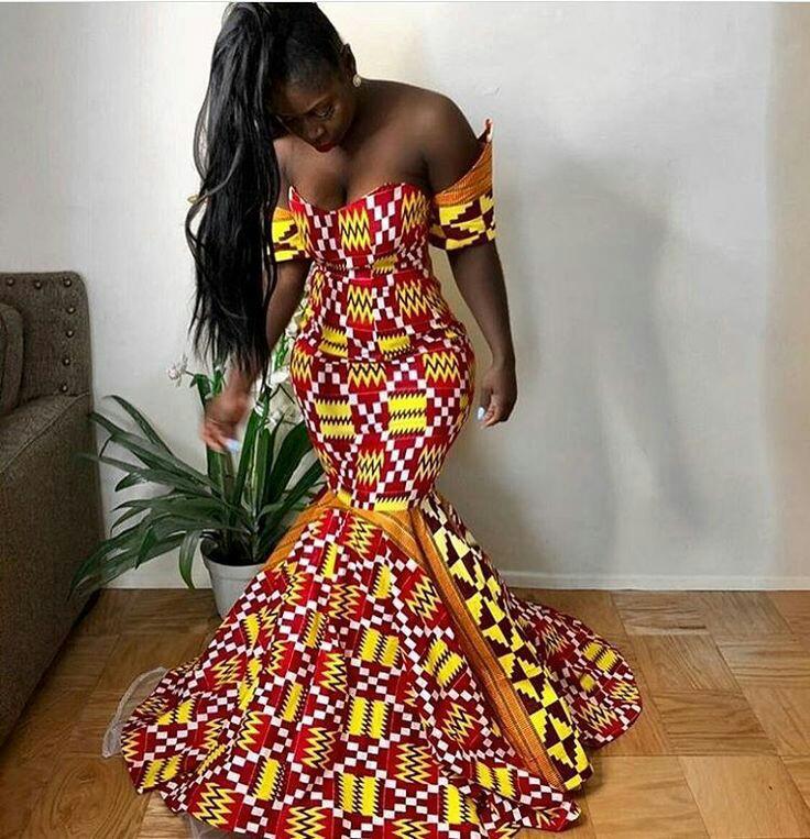 THE BEST ANKARA DRESS STYLES IN 2019 35
