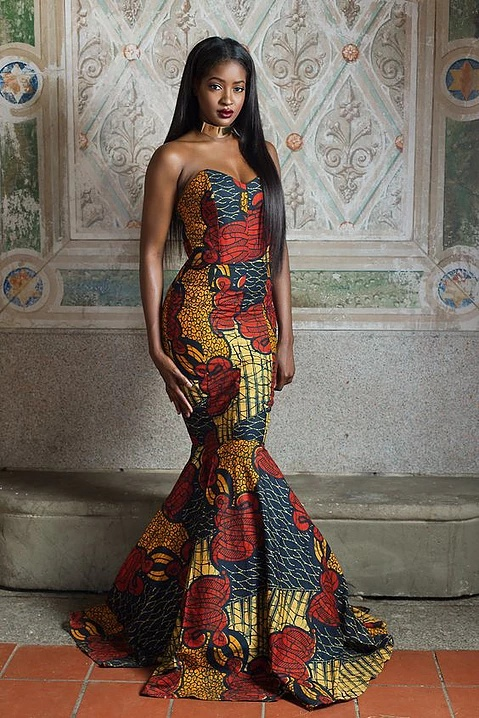 Elegant ankara mermaid gowns