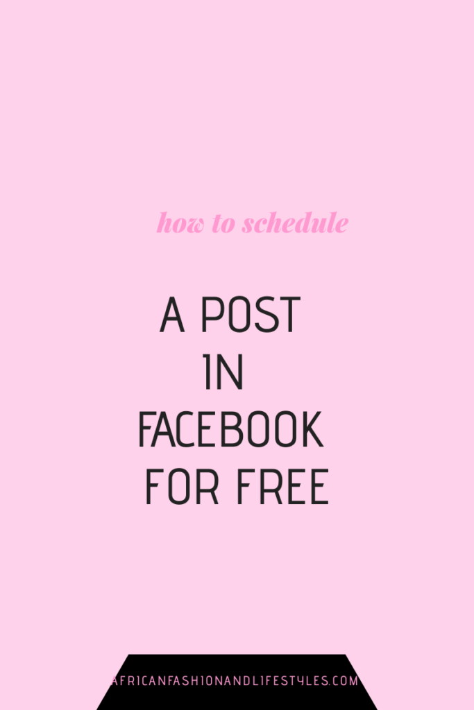 HOW TO SCHEDULE A POST IN FACEBOOK FOR FREE 3