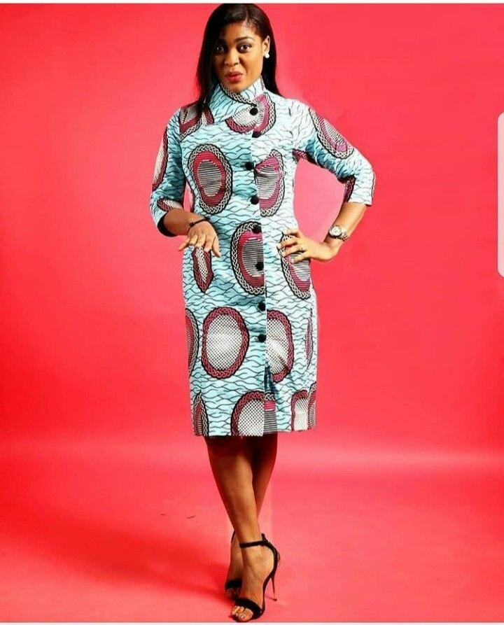 THE BEST ANKARA DRESS STYLES IN 2019 9