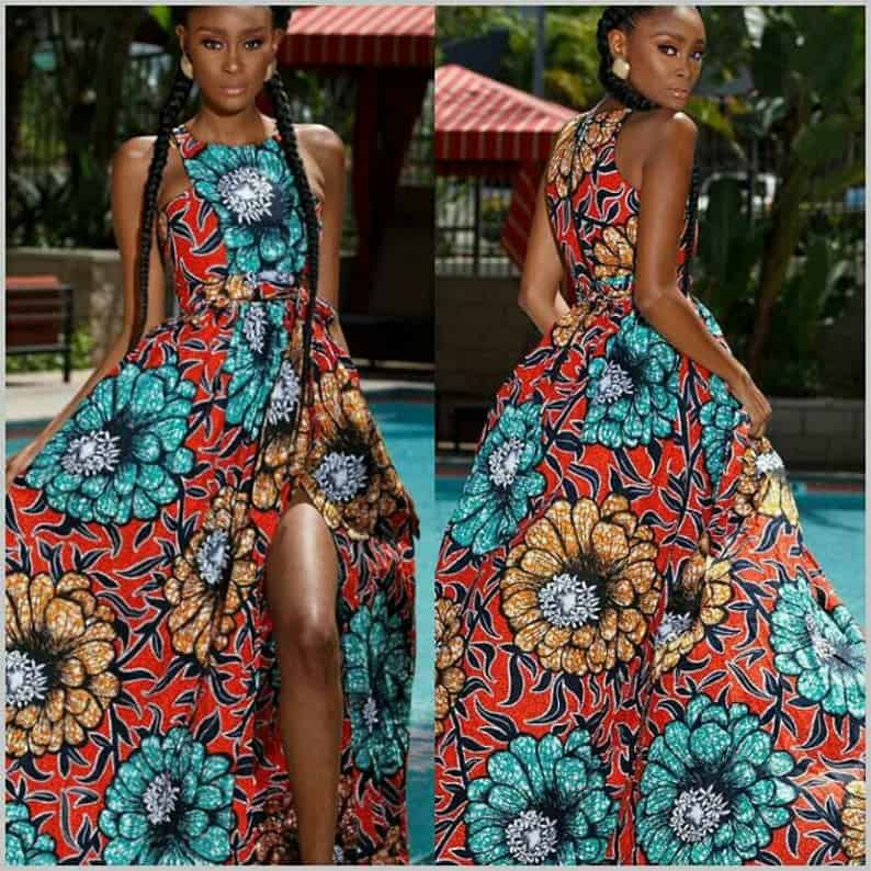 New stylish ankara maxi gown