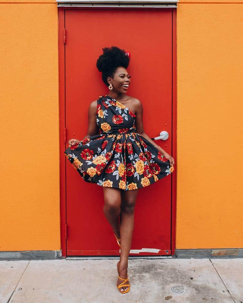 Flower patterned skater dress