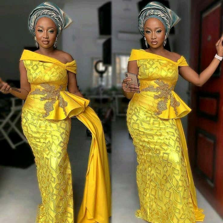 THE LATEST NIGERIAN LACE STYLES TRENDING 3