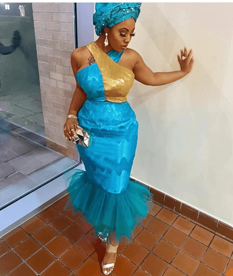 THE LATEST NIGERIAN LACE STYLES TRENDING 14