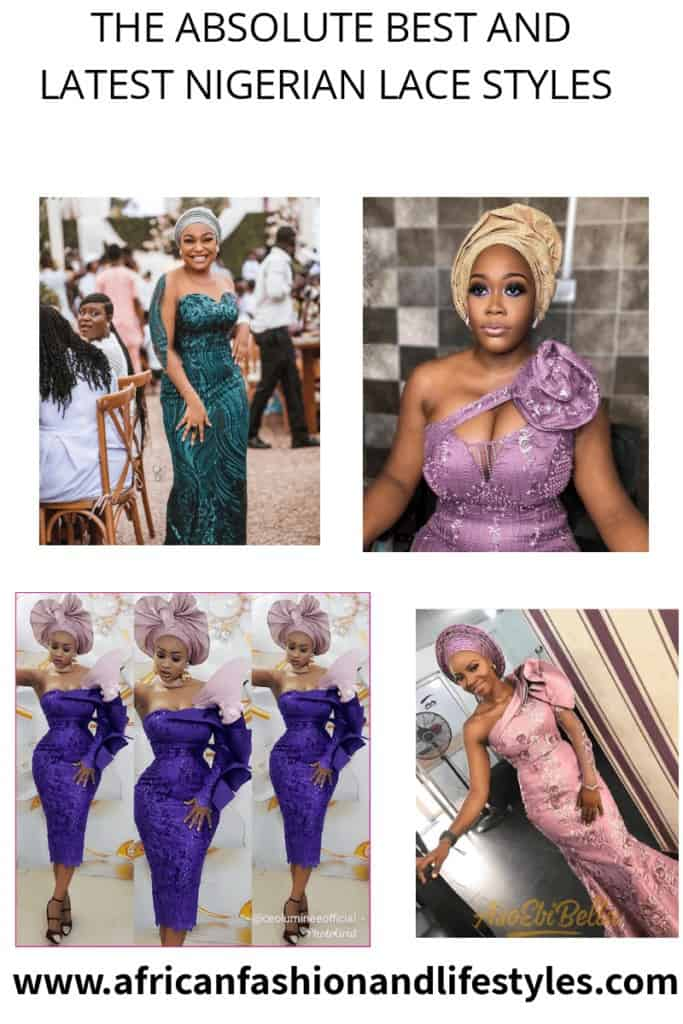 THE LATEST NIGERIAN LACE STYLES TRENDING 1