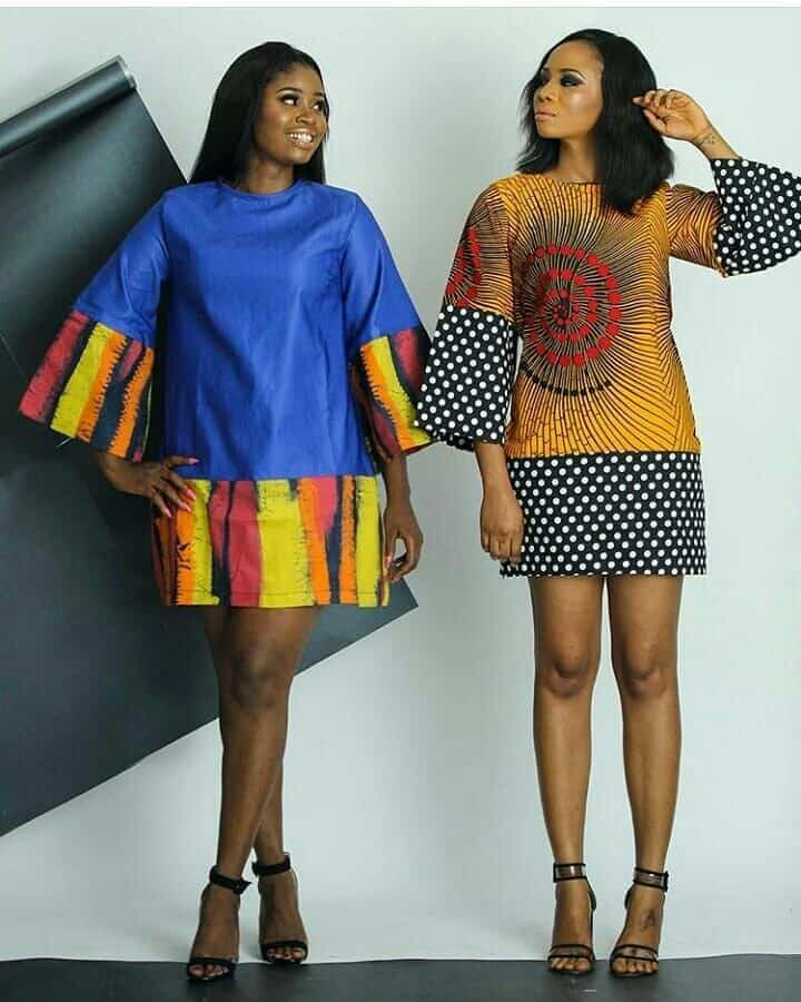 25+ SIMPLE ANKARA MINI DRESSES 4