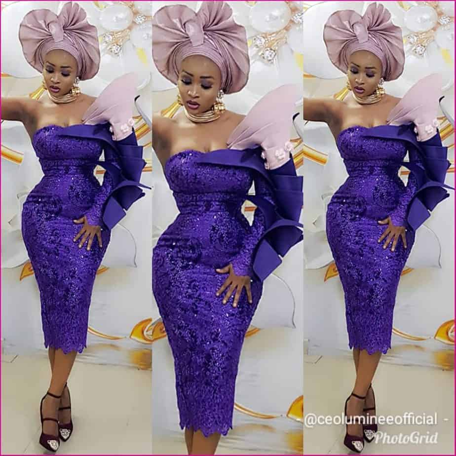 THE LATEST NIGERIAN LACE STYLES TRENDING 6