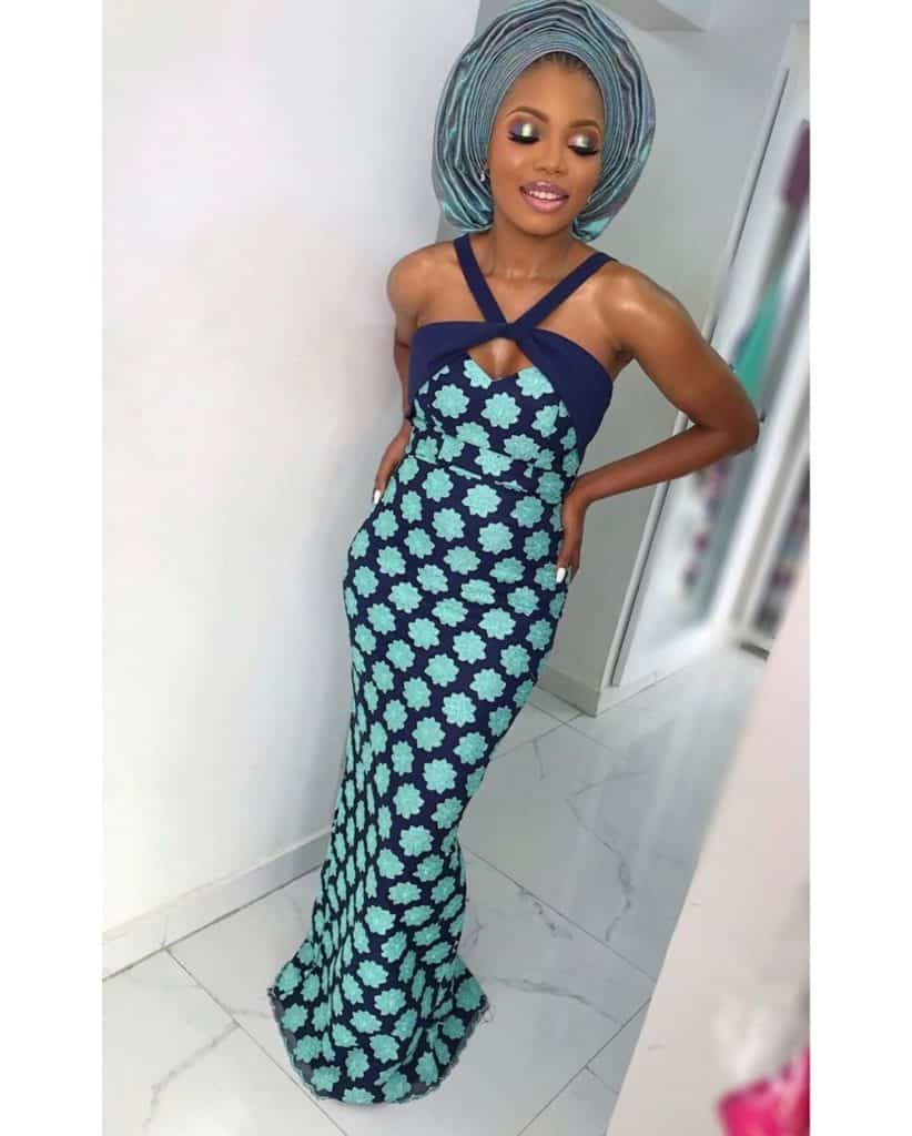 THE LATEST NIGERIAN LACE STYLES TRENDING 8