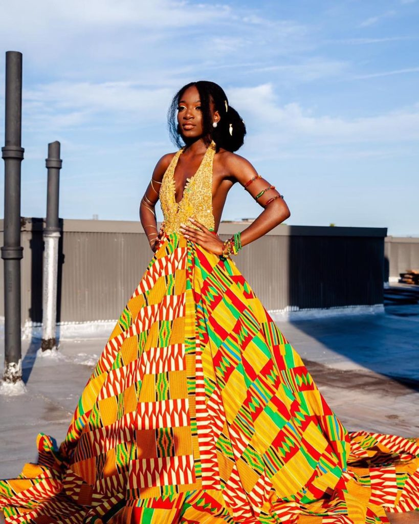 15+ LATEST AND RIVETING KENTE STYLES 2