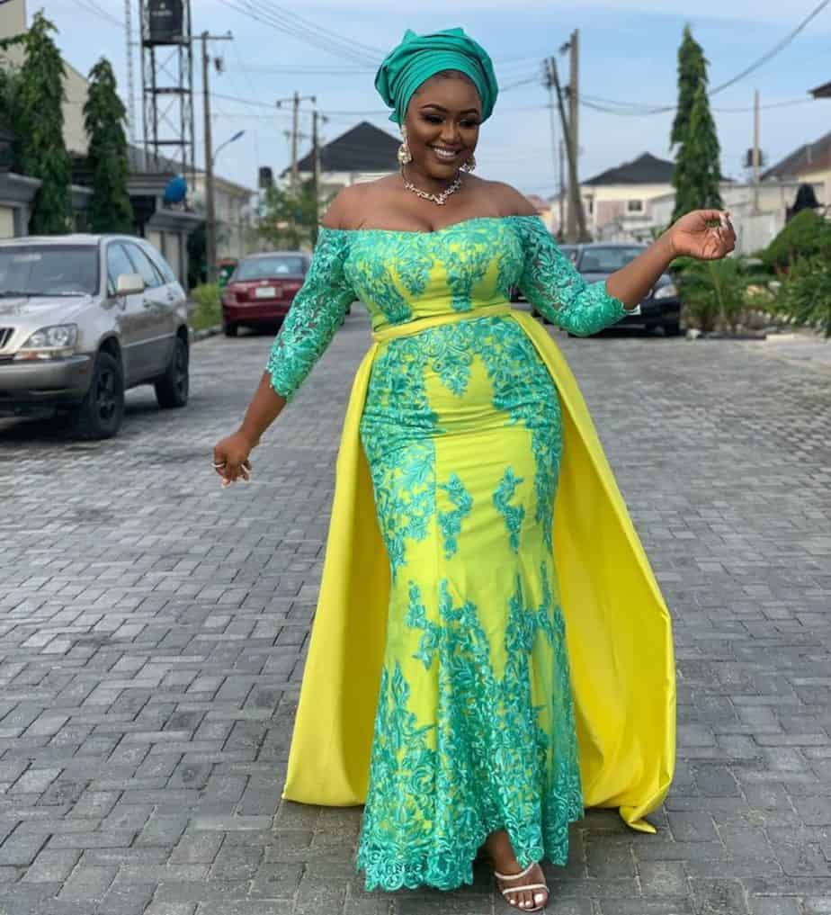THE LATEST NIGERIAN LACE STYLES TRENDING 5