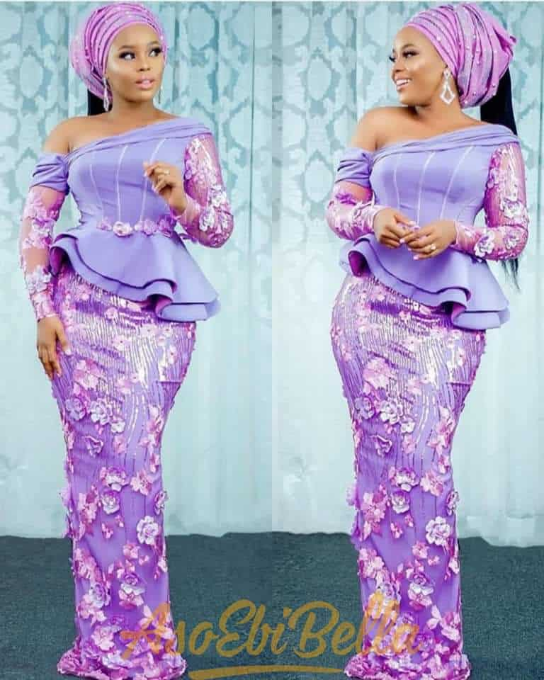THE LATEST NIGERIAN LACE STYLES TRENDING 16