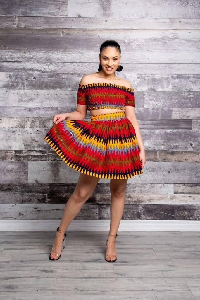 25+ SIMPLE ANKARA MINI DRESSES 16