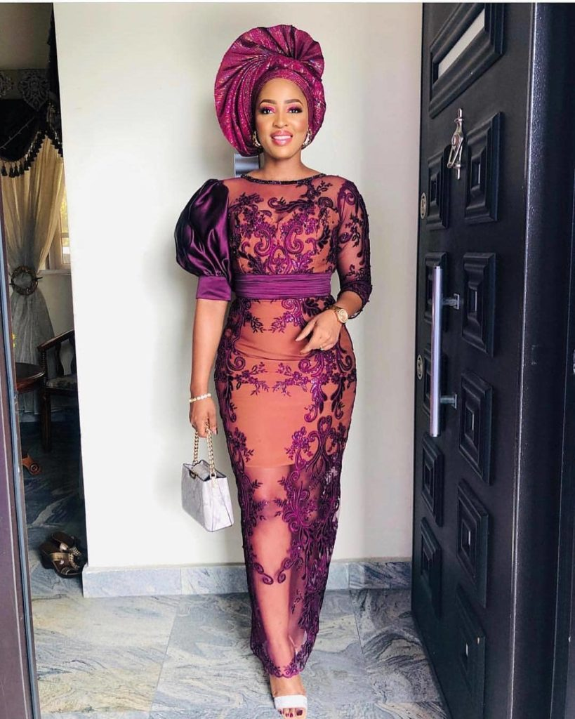 THE LATEST NIGERIAN LACE STYLES TRENDING 9