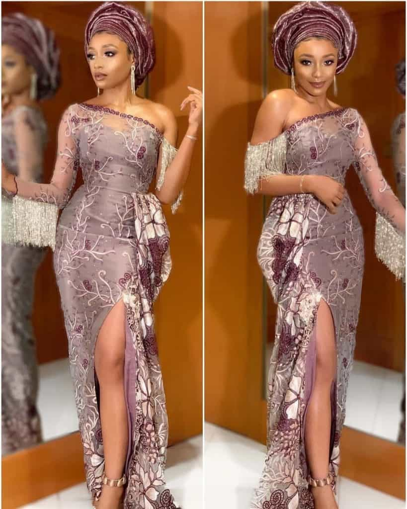 THE LATEST NIGERIAN LACE STYLES TRENDING 10