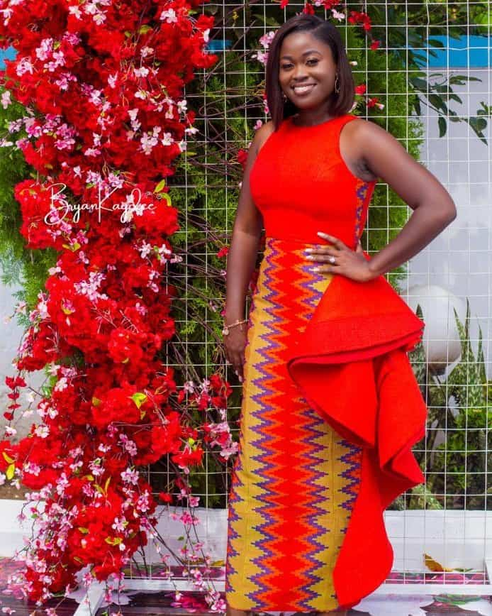 15+ LATEST AND RIVETING KENTE STYLES 6