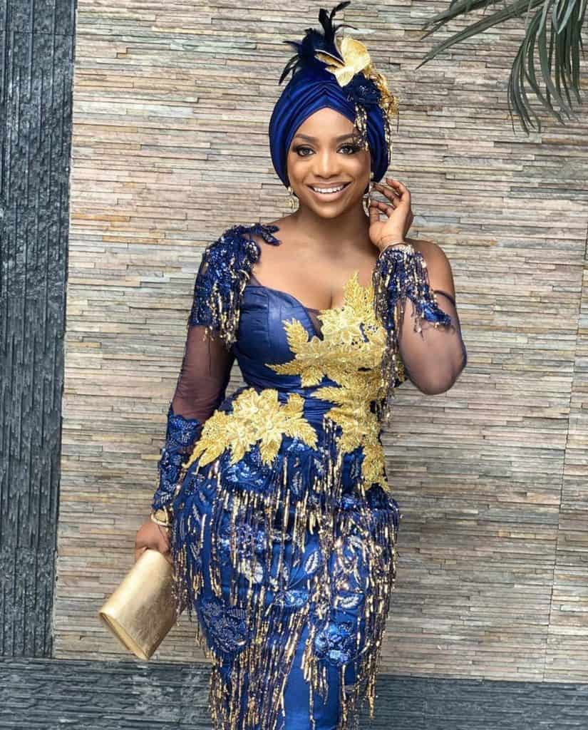 THE LATEST NIGERIAN LACE STYLES TRENDING 7