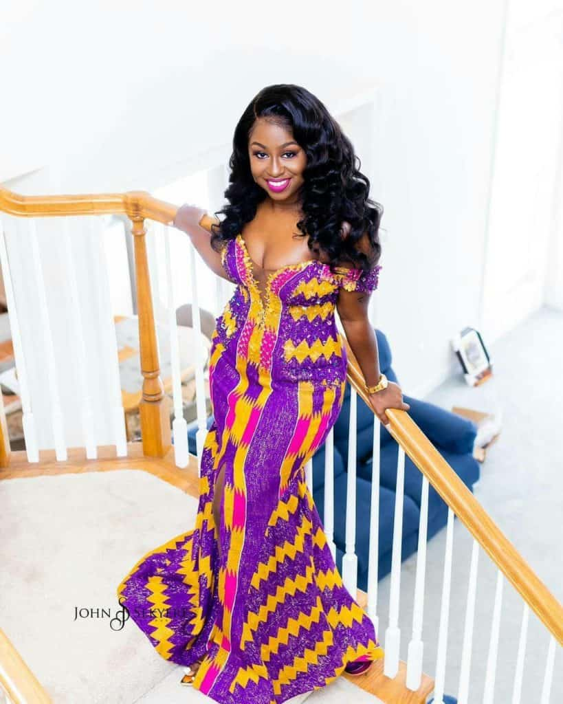 STYLISH AND GLAMOUROUS GHANA KENTE STYLES IN 2019 35