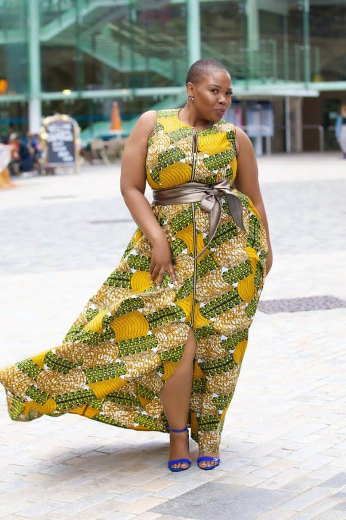 African print maxidres for plus size