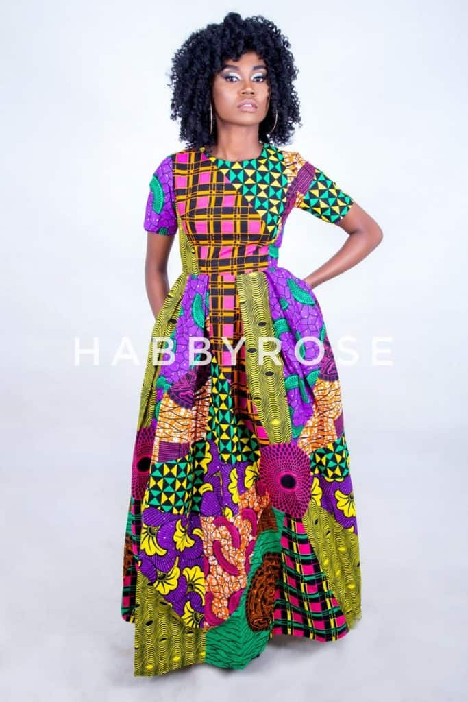 Ankara patchwork maxi dress