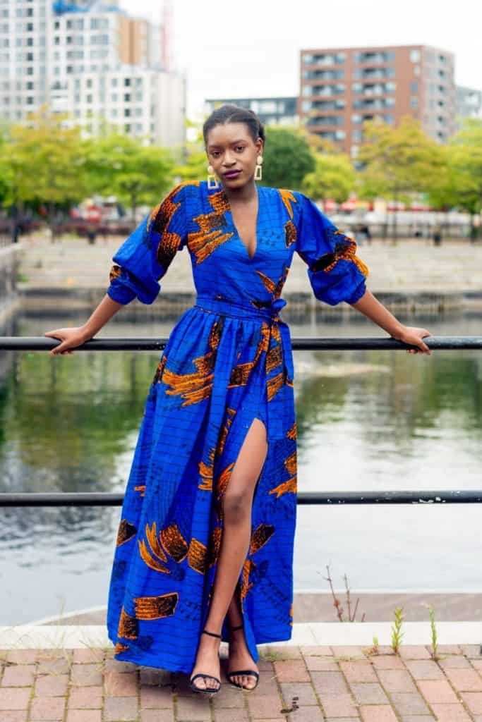 African print maxi dress new look